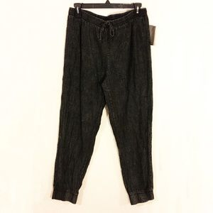 urban outfitters black acid wash joggers